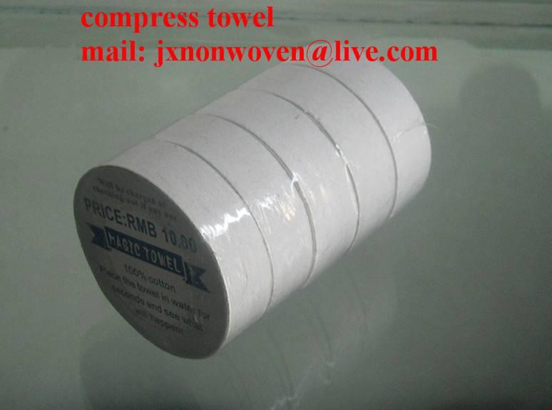 Spun-lace Compressed Towel