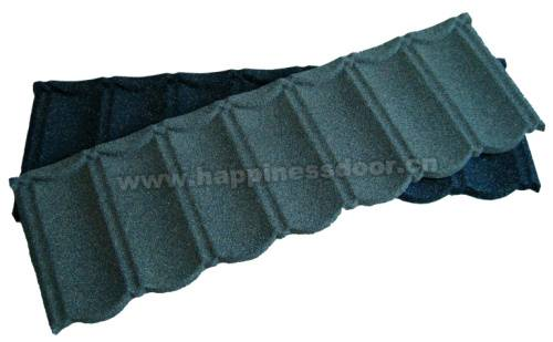 Guangzhou Happiness sand coated metal roof tile for house's using in Africa