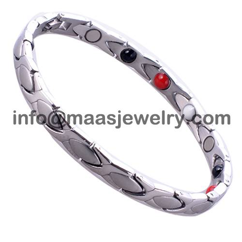 7mm classic lady bio magnetic bracelets, laser logo is free charge