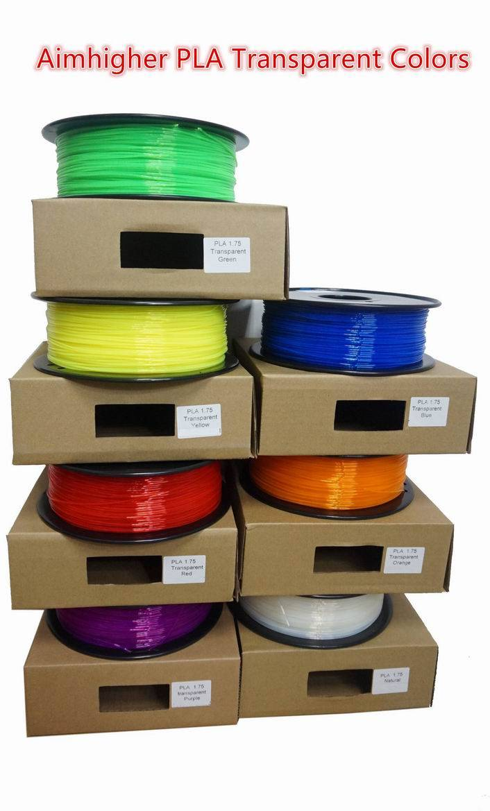 PLA 3D Filament transparent color 1.75/3.0mm easy use