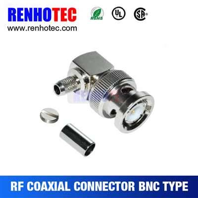 Right Angle BNC Male Connector For Cable Rg174/RG316