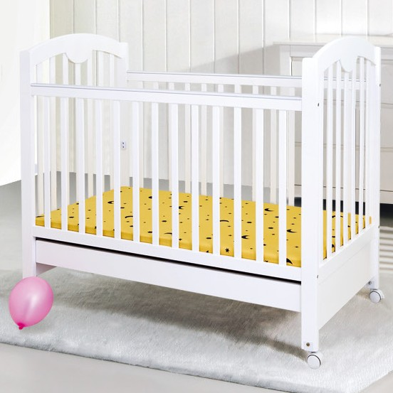 solid wood baby crib with drawer