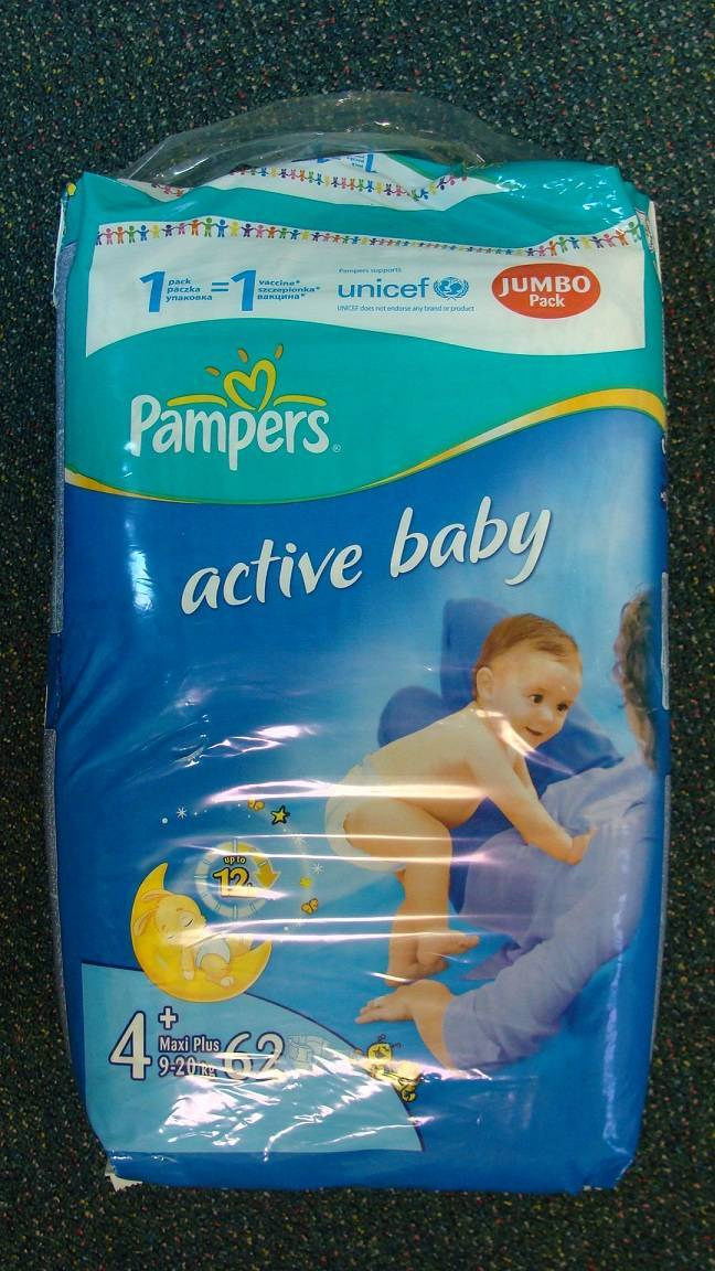 Pampers a few kinds