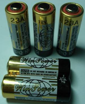 23A Alkaline remote conttol battery