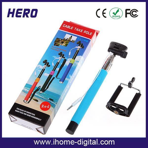 Newest design hot sale wired monopod wired monopod selfie stick monopod z07-5 plus for smartphone