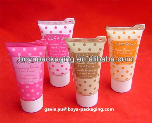 hand scream cosmetic tube with the screw top cap offset printing