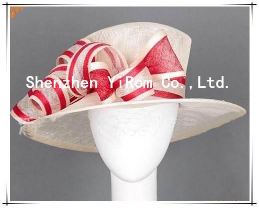 YRSM13106 wedding hat,bridal hat, sinamay hat, church hat, occasion hat, racing hat