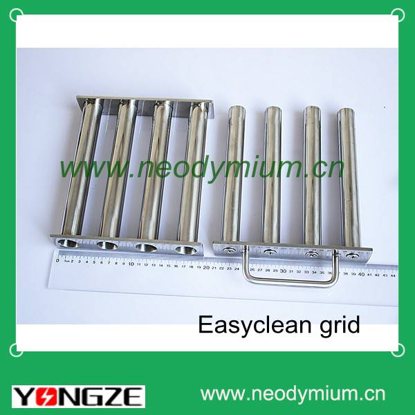 easy-cleaning S/S grate magnet