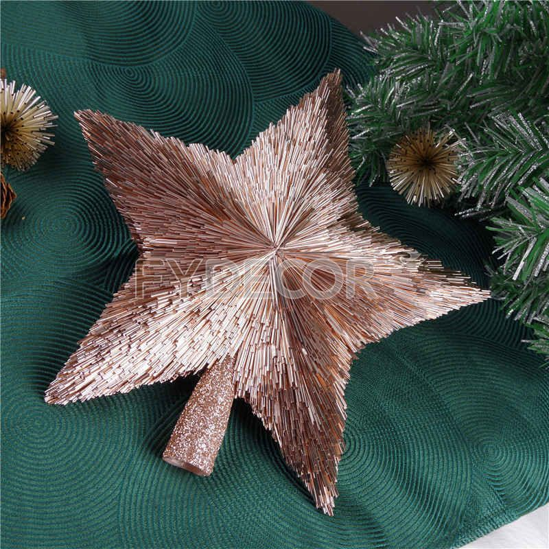 Rose Gold Star Ornament For Christmas Tree Decoration