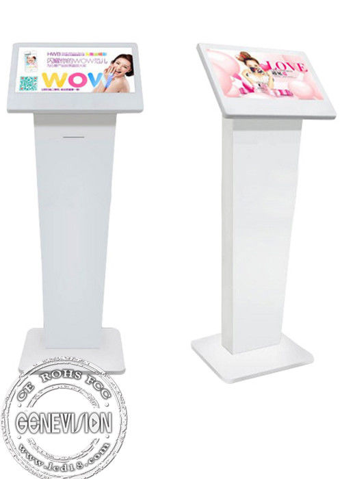 floor stand 21 inch advertising Kiosk Media Player , Lcd Digital Signage player