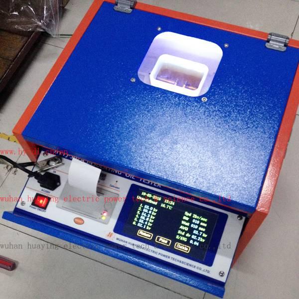 Dielectric oil breakdown tester