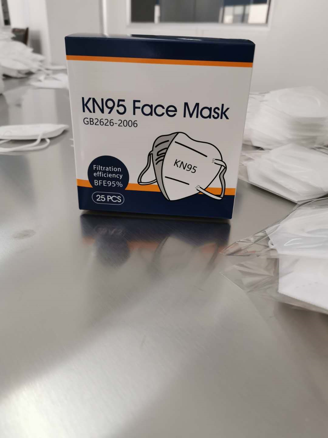 FDA Certification Breathable KN95 White Disposable Mouth Face Masks Particulate Respirator 95% Filtr