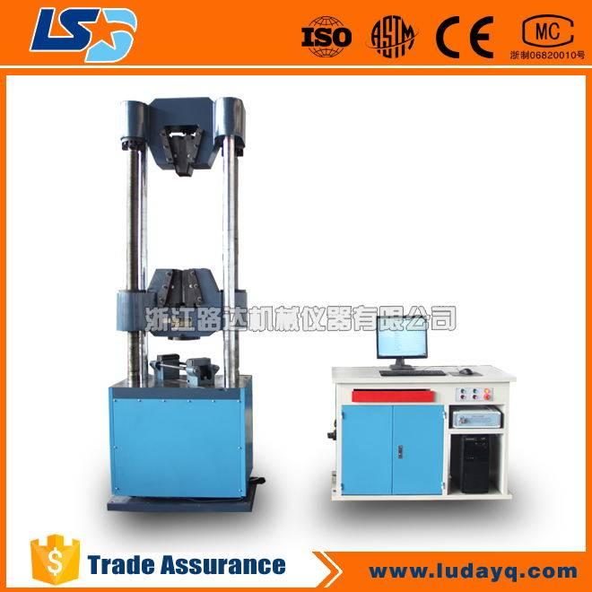 Steel strand tensile testing machine