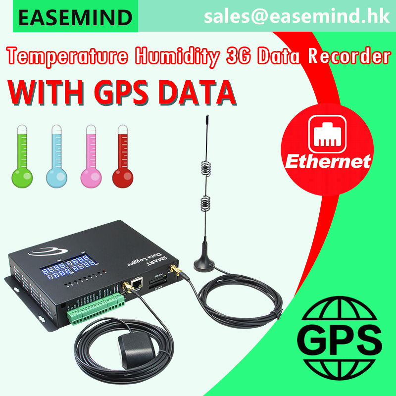 Temperature Humidity 3G Data Recorder with GPS data
