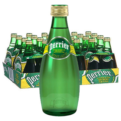 Perrier 330ml glass bottle