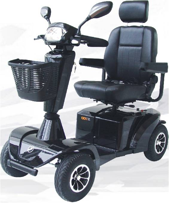 Cheapest Manufactory Middle Size Folding Four Wheel Mobility Scooter with Ring Handlebar
