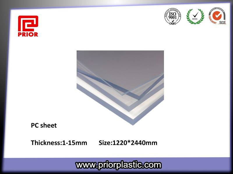 Clear solid PC sheet, Polycarbonate panel