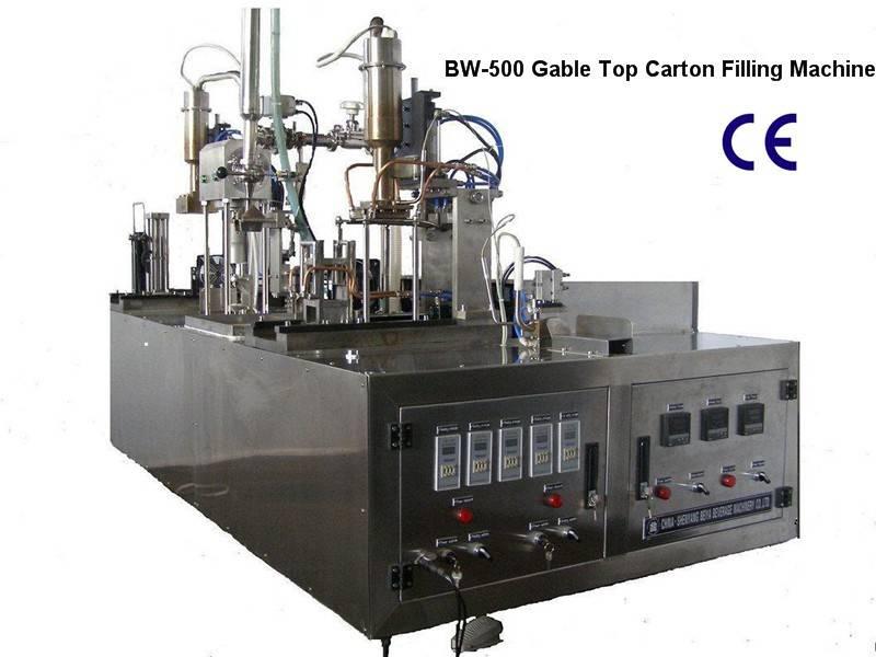 Small Type Yogurt Gable-Top Filling Machinery (BW-500)