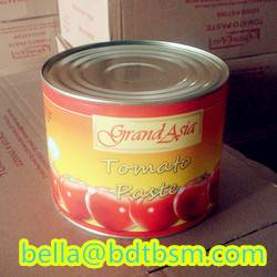 Sell brix:22-24%,24-26% tomato paste in tin 425g24tins/carton