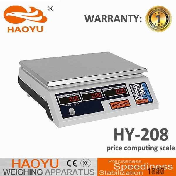 LCD/LED AC110-240V 50/60HZ electric digital weighing scale model