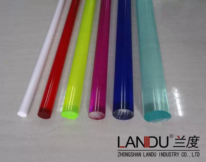 High qualitydifferent size colorfulacrylicroundrods acrylic round bars acrylic round sticks