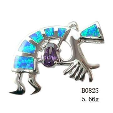 925 sterling silver Opal Set With Opal Inlayed-B082S