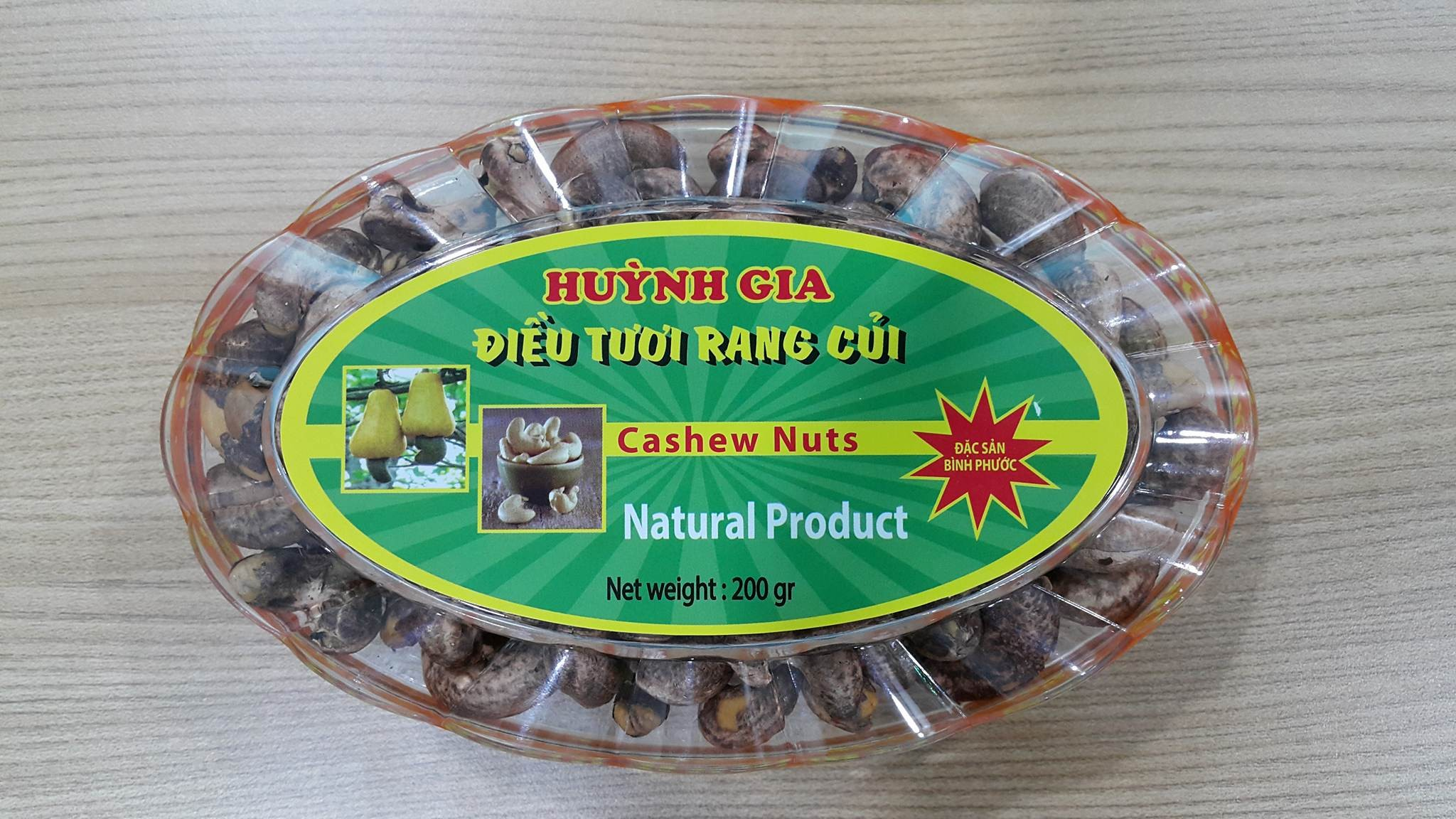 SALTED ROASTED CASHEW NUTS WITH SHELL VIET NAM