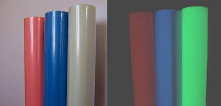 photoluminescent vinyl tape rolls