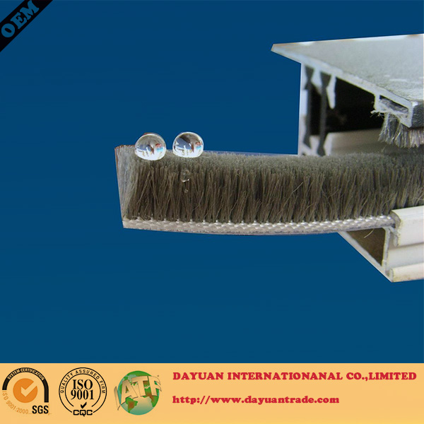 Wool pile weather seal strip for doors and windows