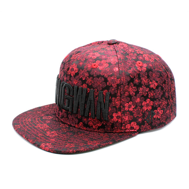 Silk Red Metal Snapback Cap