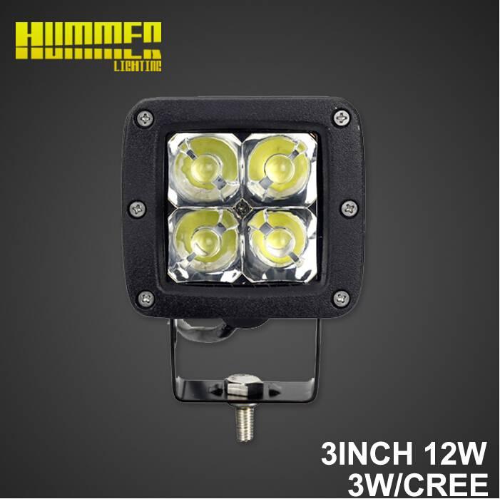 Hot sale led mini work light, 3inch 12W Spot/Flood beam of led work light