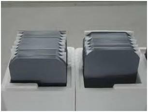 Mono silicon wafer and mono silicon ingot