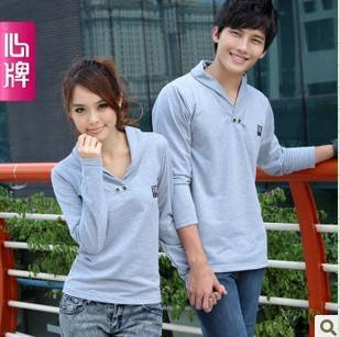Couple long sleeve T Shirt 2011 new arrival autumn clothing Corea L218