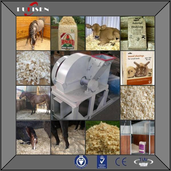 Wood shaving machine for animals beddings