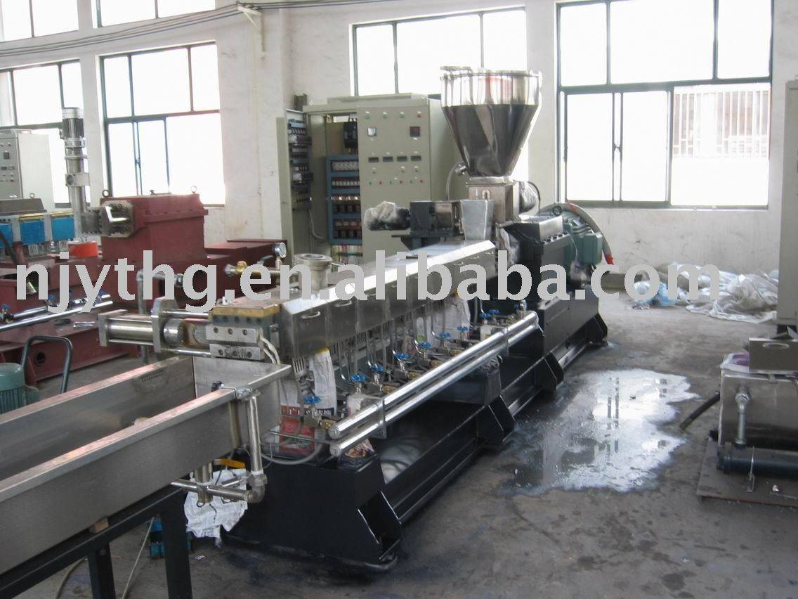 SHJ50 twin screw extruder(L/D =40)(cable material reactive extrusion )