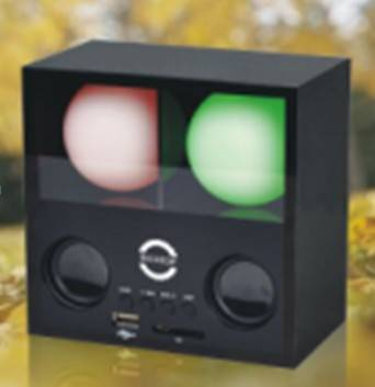 2 Balls Disco Speaker With SD/USB Slot