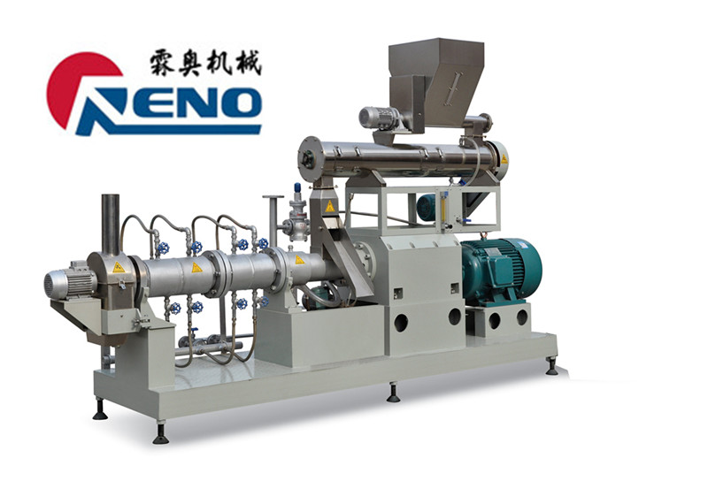 twin screw extruder soya protein food machinery