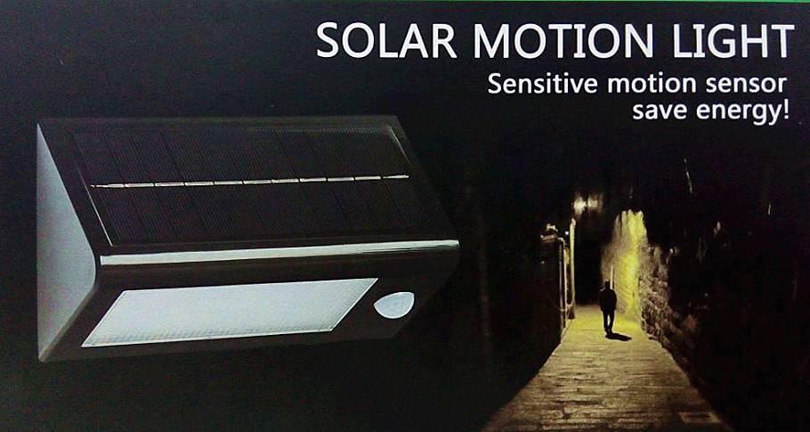 32 LEDs Solar Wall Outdoor Light with Motion Sensor Garden Lights