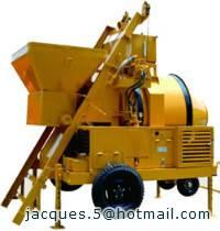 750litre concrete mixer with sliding hopper/diesel concrete mixer