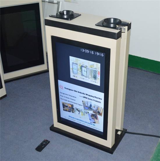 latest innovative technology products umbrella wrapper with led Monitor displa