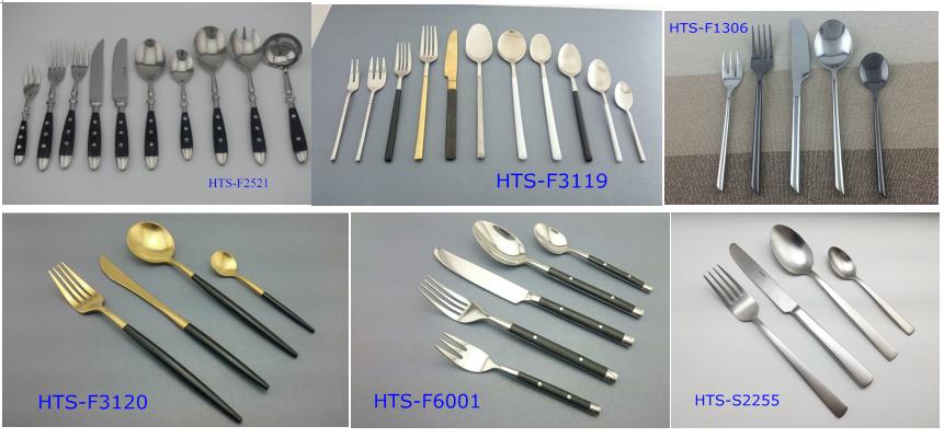 18/10 SS flatware with Bakelite handle