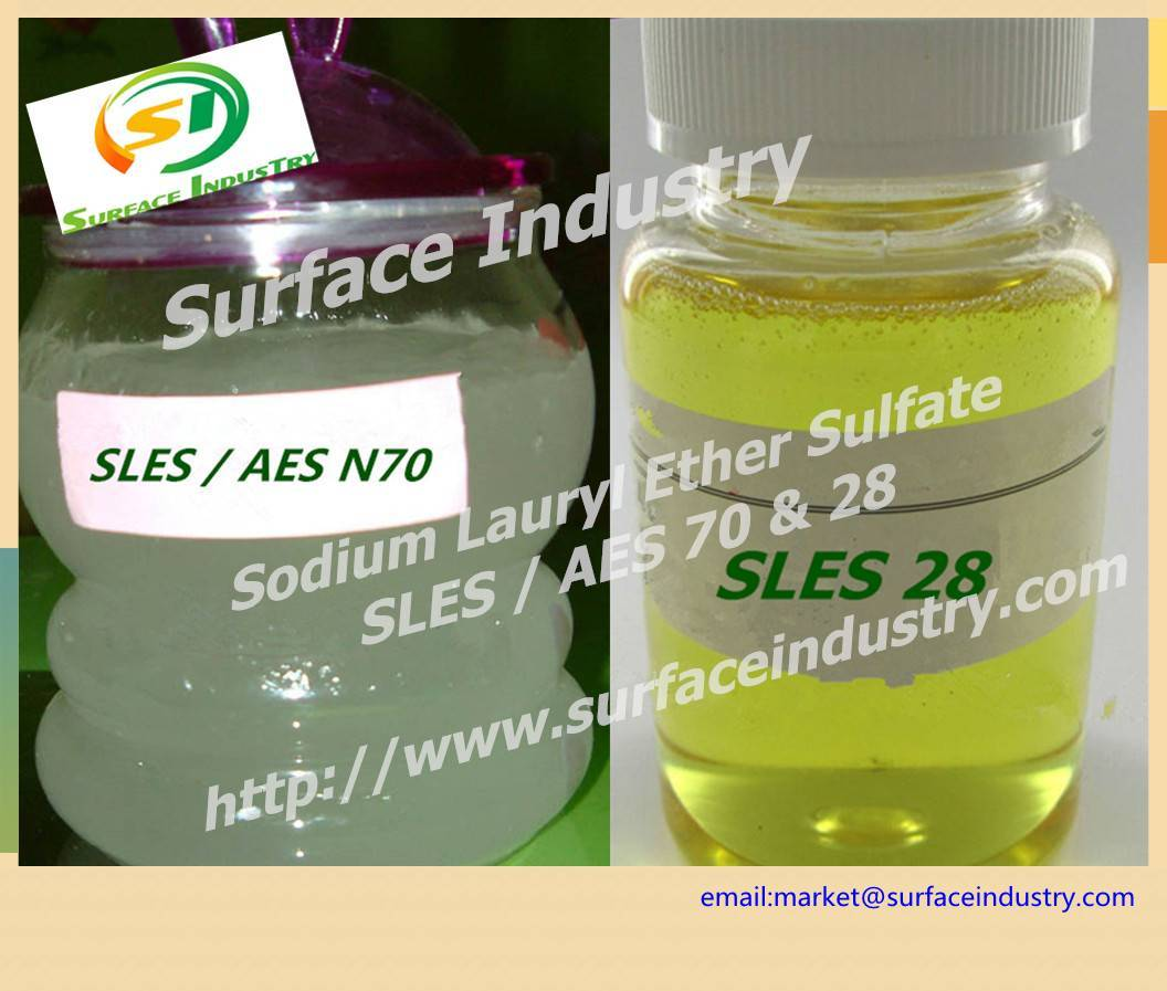 Sodium Lauryl Ether Sulfate,SLES 70 and 28 for Cosmetic
