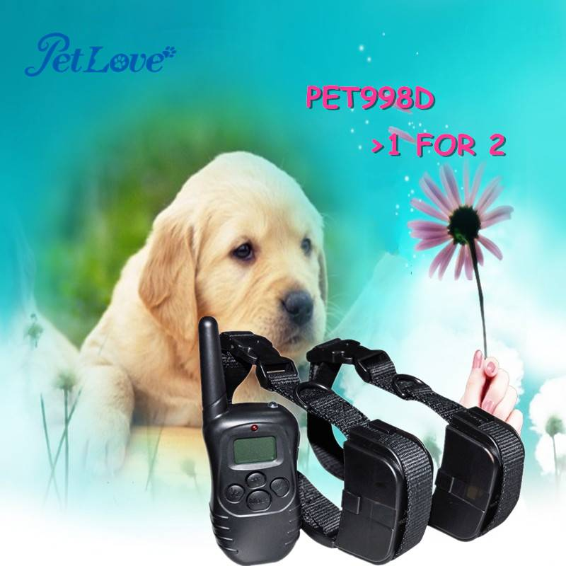 LCD Display Remote Puppy Training Collar 1 for 2 dogs