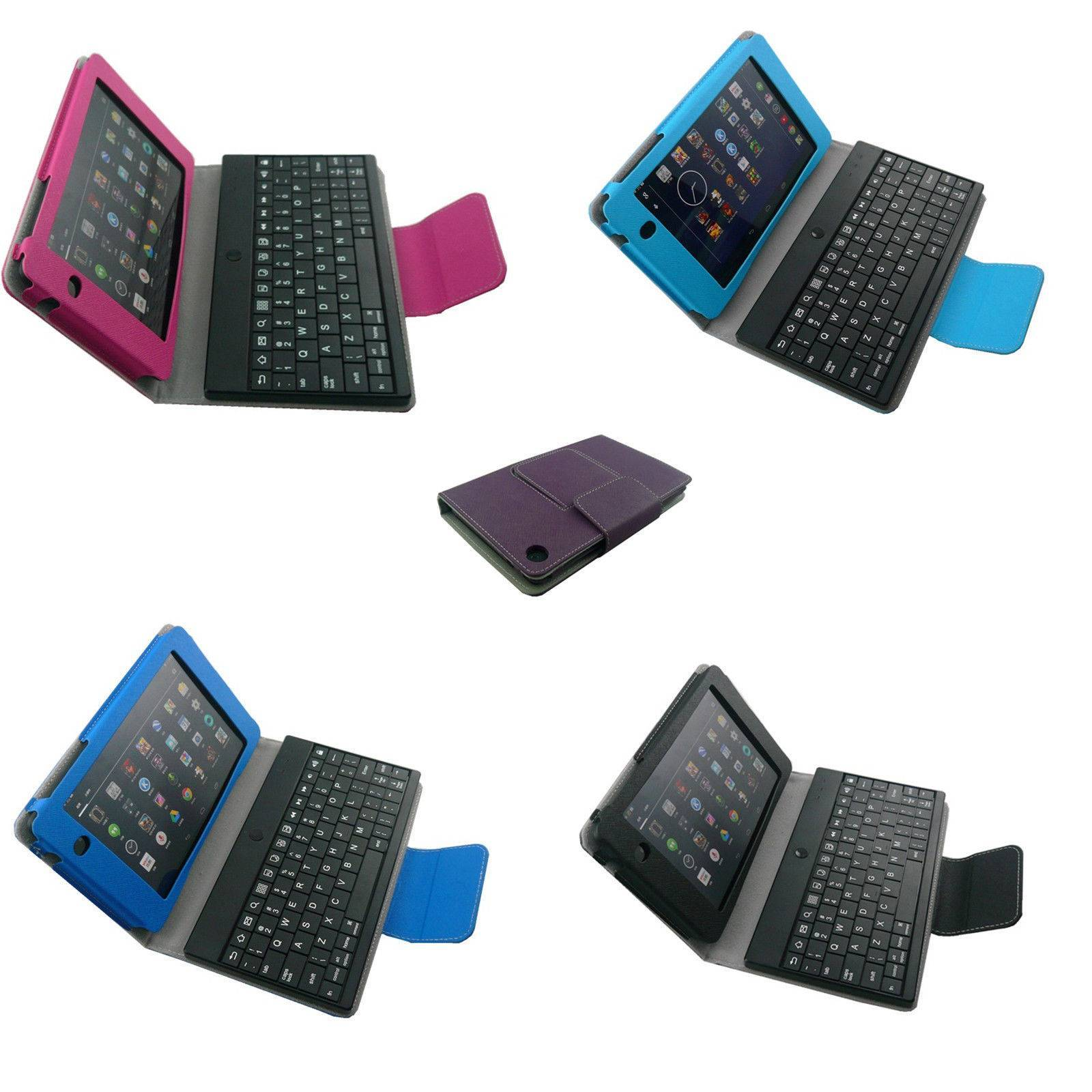 Stand PU Case with Bluetooth Keyboard Cover For Google Nexus 7 FDH 2th 7inch Tab
