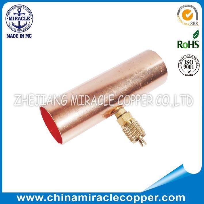 Refrigeration Copper Solder Tee Valve