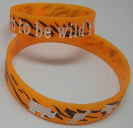 Ink Injecked /Color Filled Deboss Silicone bracelets