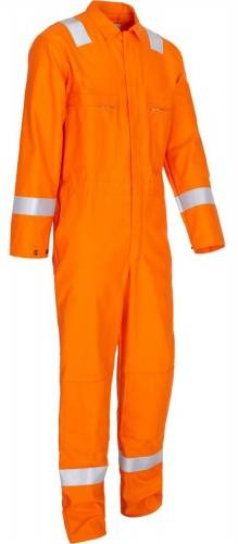 cotton flame retardant coverall with reflective tape