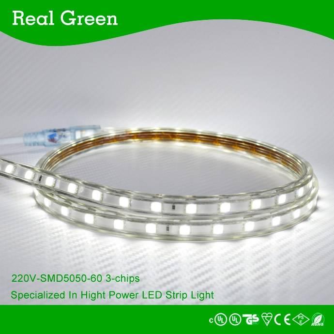 220V SMD5050 White LED strip light