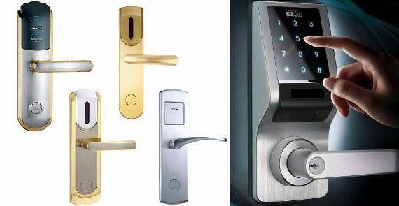 Security door locks for hotel and residential use