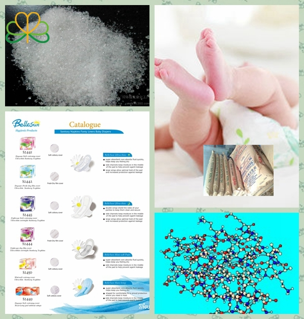High water absorbability SAP for baby diaper, adult diaper,sanitary napkins